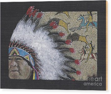 Spotted Eagle Wood Print