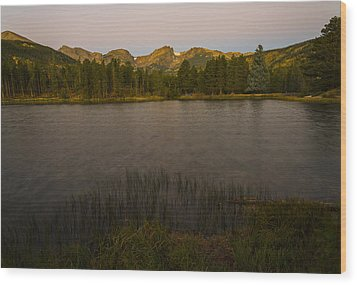 Sprague Lake Wood Print