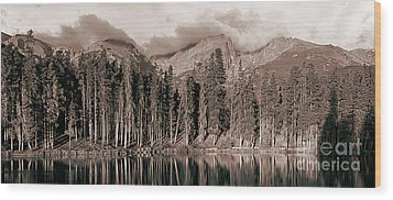 Wood Print featuring the photograph Sprague Lake Morning by Thomas Bomstad