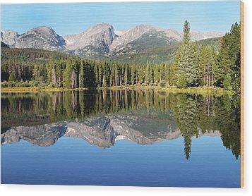 Sprague Lake Rocky Mountains Wood Print by David Yunker