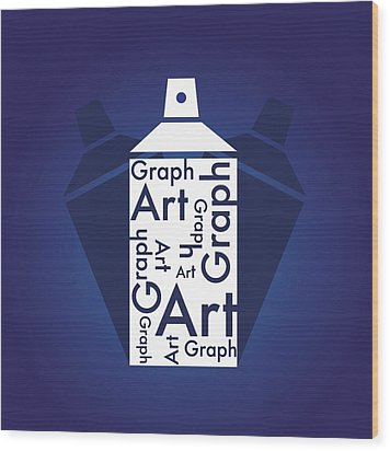 Graph Art Spray Can Wood Print by Sheila Mcdonald