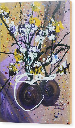 Spreading Joy Wood Print by Pearlie Taylor