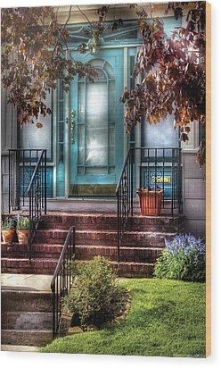 Spring - Door - Apartment Wood Print by Mike Savad