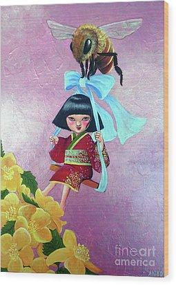 Spring Wood Print by Akiko Okabe