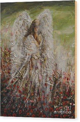 Spring Angel Wood Print