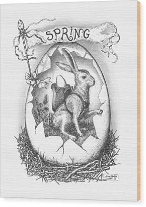 Spring Arrives Wood Print by Adam Zebediah Joseph