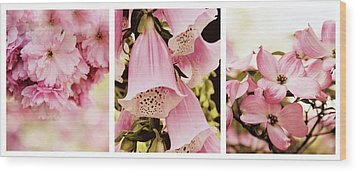 Wood Print featuring the photograph Spring Assemblage Triptych by Jessica Jenney