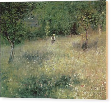 Spring At Chatou Wood Print by Pierre Auguste Renoir
