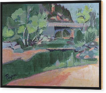 Spring At Slide Rock Park Wood Print by Betty Pieper