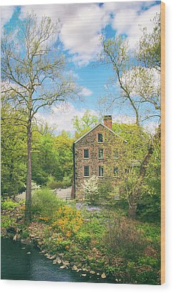 Spring At The Stone Mill  Wood Print by Jessica Jenney