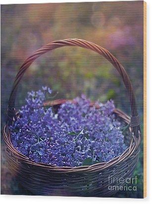 Spring Basket Wood Print