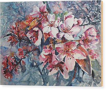 Wood Print featuring the painting Spring Beauty by Kovacs Anna Brigitta