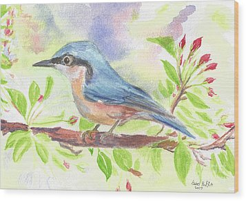 Spring Bird  Wood Print by Isabel Proffit