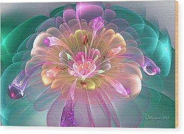 Spring Bloom Wood Print by Peggi Wolfe