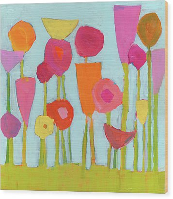 Spring Blooms Wood Print by Laurie Breen