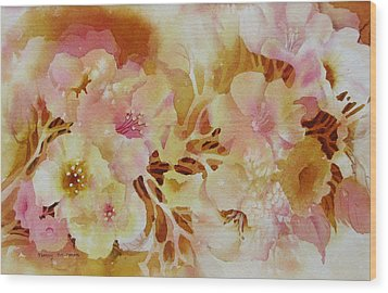 Spring-blooms Wood Print by Nancy Newman