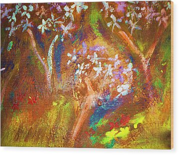 Wood Print featuring the painting Spring Blossom by Winsome Gunning