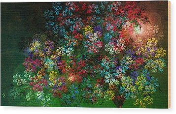 Spring Bouquet Wood Print by Adam Vance