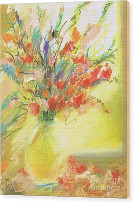 Spring Bouquet Wood Print by Frances Marino