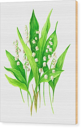 Wood Print featuring the painting Spring Bouquet by Margit Sampogna