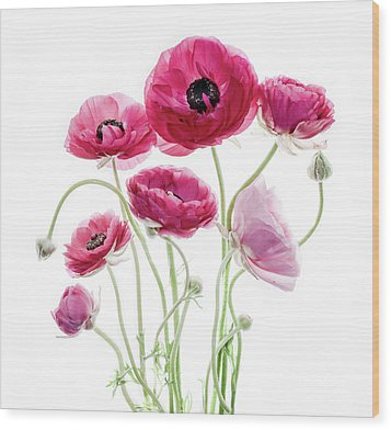 Spring Bouquet Wood Print by Rebecca Cozart