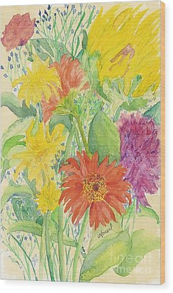 Wood Print featuring the painting Spring Bouquet  by Vicki  Housel