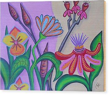 Spring Wood Print by Claudia Tuli