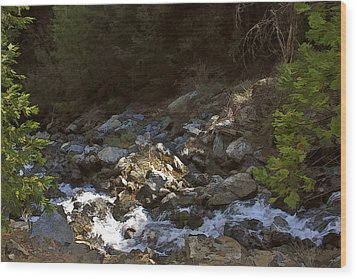 Wood Print featuring the painting Spring Creek by Larry Darnell