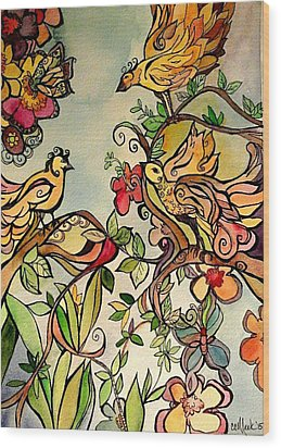 Spring Day Wood Print by Claudia Cole Meek