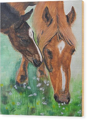 Spring Day In The Meadow Wood Print