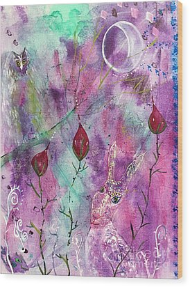 Wood Print featuring the painting Spring Dream by Julie Engelhardt