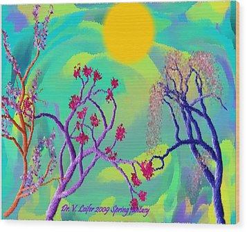Spring Fantasy Wood Print by Dr Loifer Vladimir