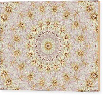 Spring Fantasy Floral Mandala Wood Print by Janusian Gallery