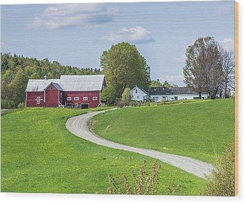 Spring Farm Wood Print by Tim Kirchoff