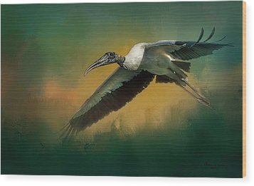 Wood Print featuring the photograph Spring Flight by Marvin Spates