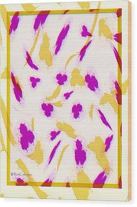 Wood Print featuring the digital art Spring Fling by Kae Cheatham