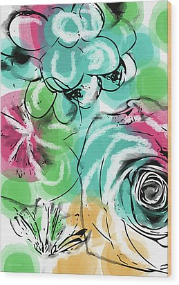 Wood Print featuring the mixed media Spring Floral 9- Art By Linda Woods by Linda Woods