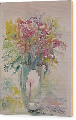 Spring Flowers Wood Print by Rita Fetisov