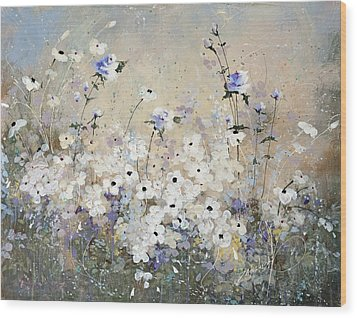 Wood Print featuring the painting Spring Gardens by Laura Lee Zanghetti