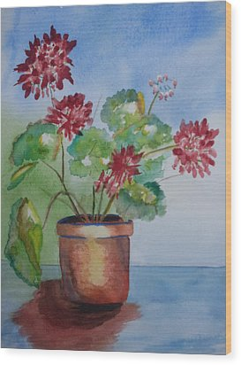 Spring Geranium 1  Wood Print