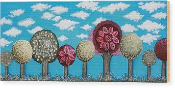 Spring Grove Wood Print by Graciela Bello