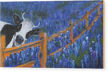 Wood Print featuring the painting Spring Has Sprung by Jamie Frier
