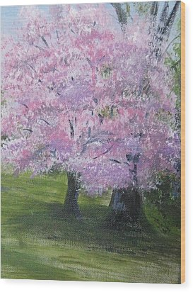 Wood Print featuring the painting Spring In Bloom by Trilby Cole