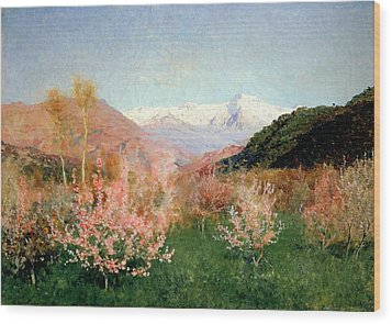 Spring In Italy Wood Print by Isaak Ilyich Levitan