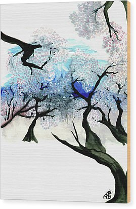 Spring In Japan Wood Print by Tiphanie Erickson