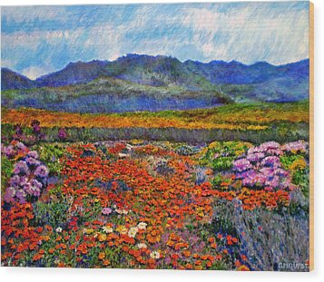 Spring In Namaqualand Wood Print by Michael Durst