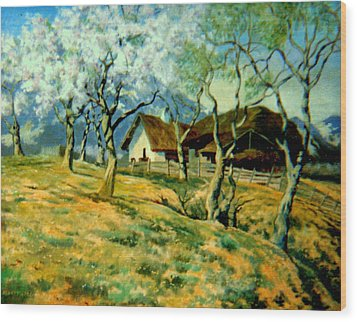Wood Print featuring the painting Spring In Poland by Henryk Gorecki