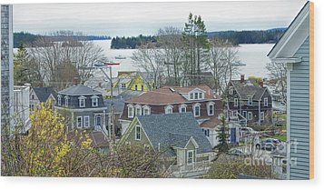 Spring In Maine, Stonington Wood Print