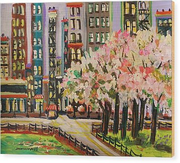 Spring In The City Wood Print by John Williams