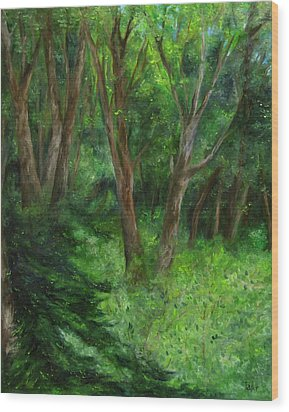 Spring In The Forest Wood Print by FT McKinstry